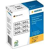 Herma 4800 Nummernetiketten (dreifach selbstklebend, 10 x 22 mm) weiß/schwarz