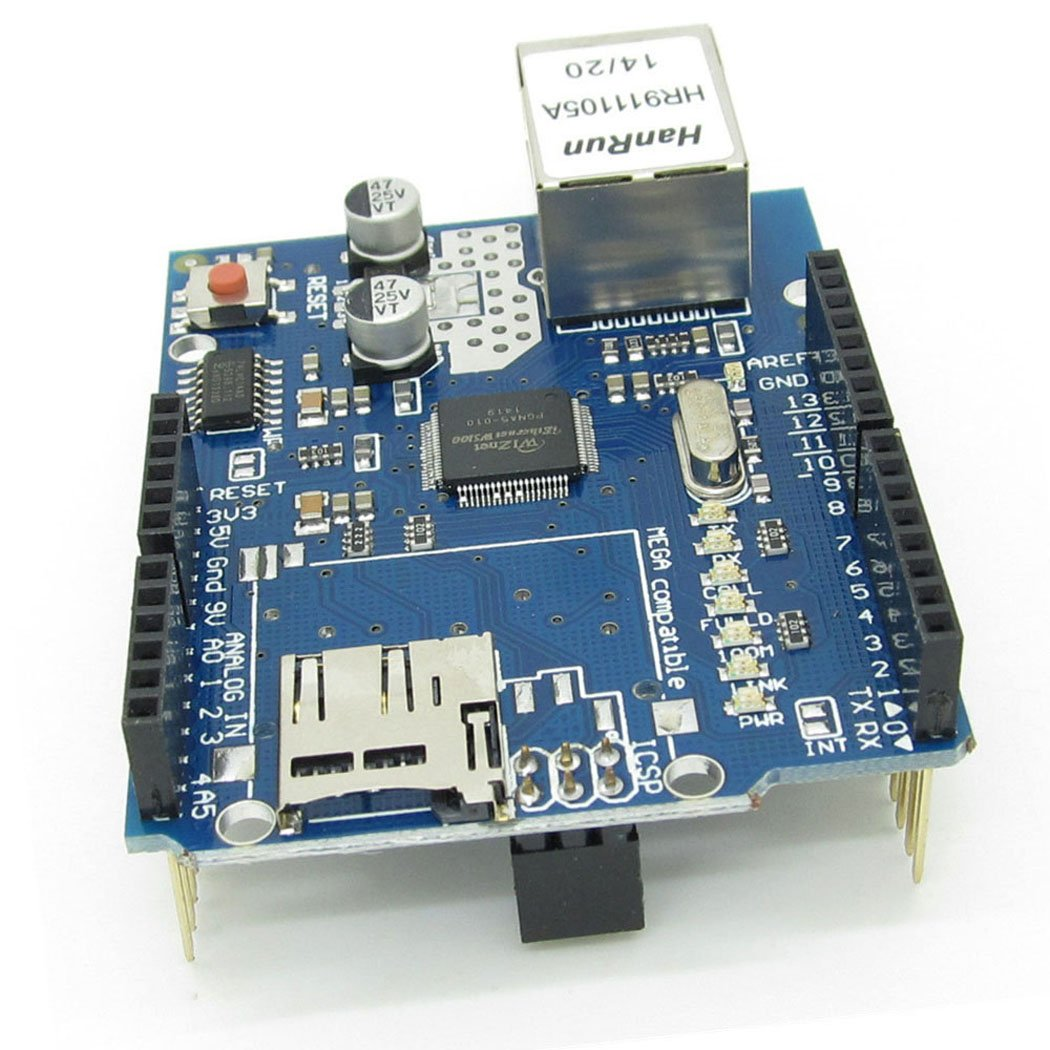 Ethernet W5100 Web Server SD Card Network Shield Expansion Board Module for Arduino by NewZoll (Image #2)