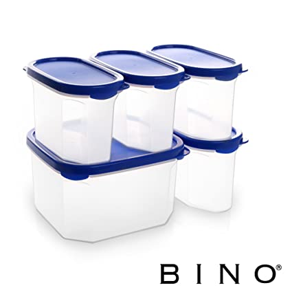 Amazon.com: BINO 10-Piece Airtight Stackable Kitchen Storage ...
