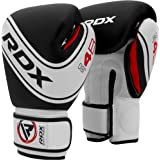 RDX Kids Boxing Gloves for Training and Muay Thai, Maya Hide Leather Junior 4oz, 6oz Mitts for Sparring, Fighting and Kickbox