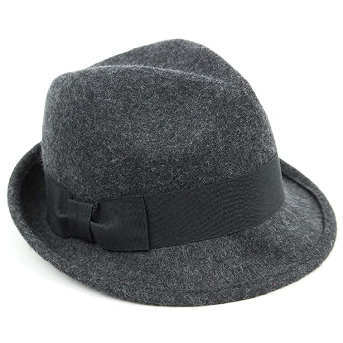 Trilby Hat with Wide Black Ribbon Band