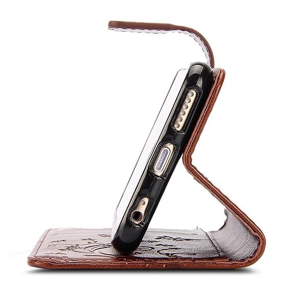 Amazon.com: korecase iPhone 6 6S Case Flores y Mariposas ...