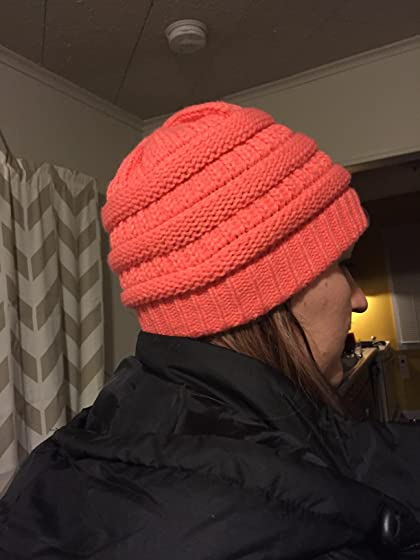 FunkyJunque Trendy Warm Oversized Chunky Soft Oversized Cable Knit Slouchy Beanie Good quality and color. Fit is VERY off.