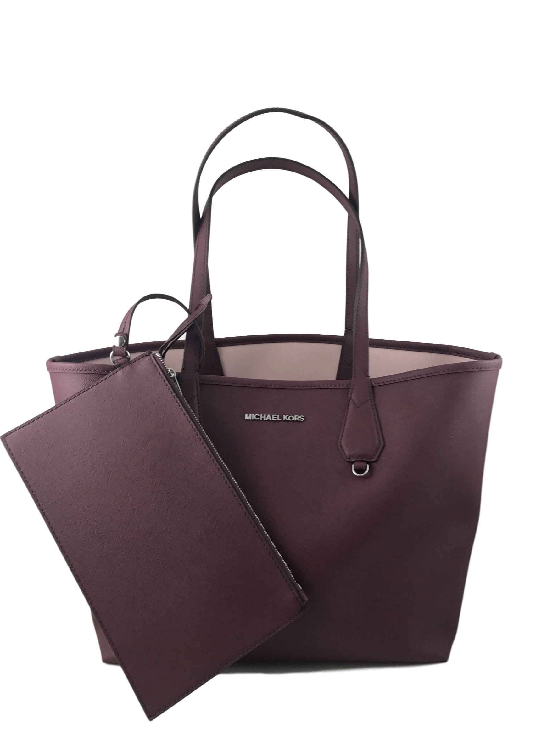 Michael Kors Candy LG Reversible PVC Tote Bag Plum/Blossom