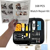 HAOBAIMEI 168 PCS Watch Repair Kit Professional Spring Bar Tool Set,Watch Battery Replacement Tool