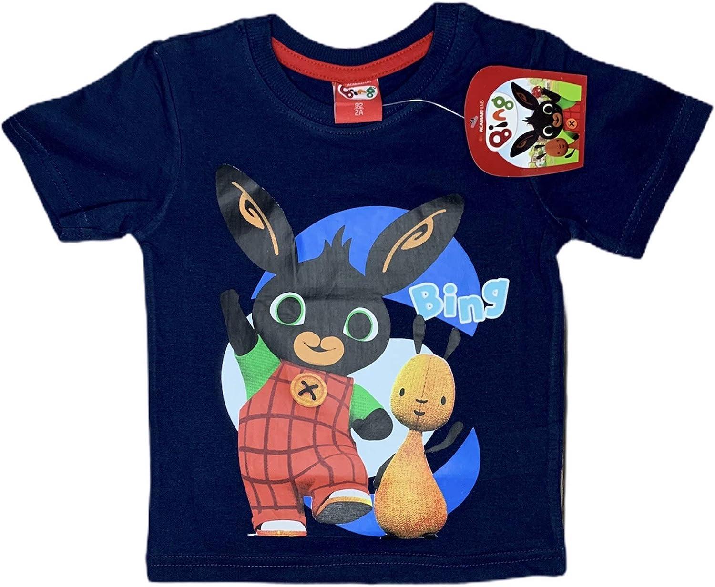 Bing T-Shirt Maglia Coniglietto Manica Corta Multicolore in Cotone