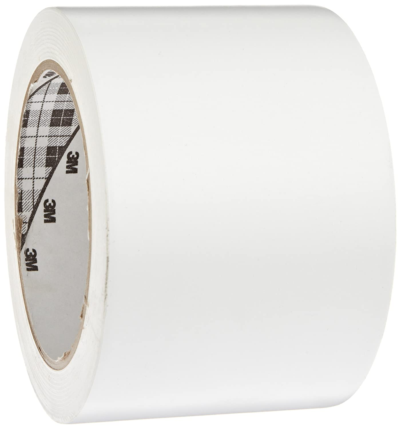 3M General Purpose Vinyl Tape 764, White, 3 in x 36 yd, 5 mil