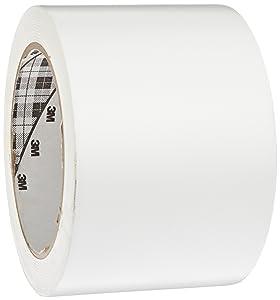 3M General Purpose Vinyl Tape 764, White, 3 in x 36 yd, 5 mil