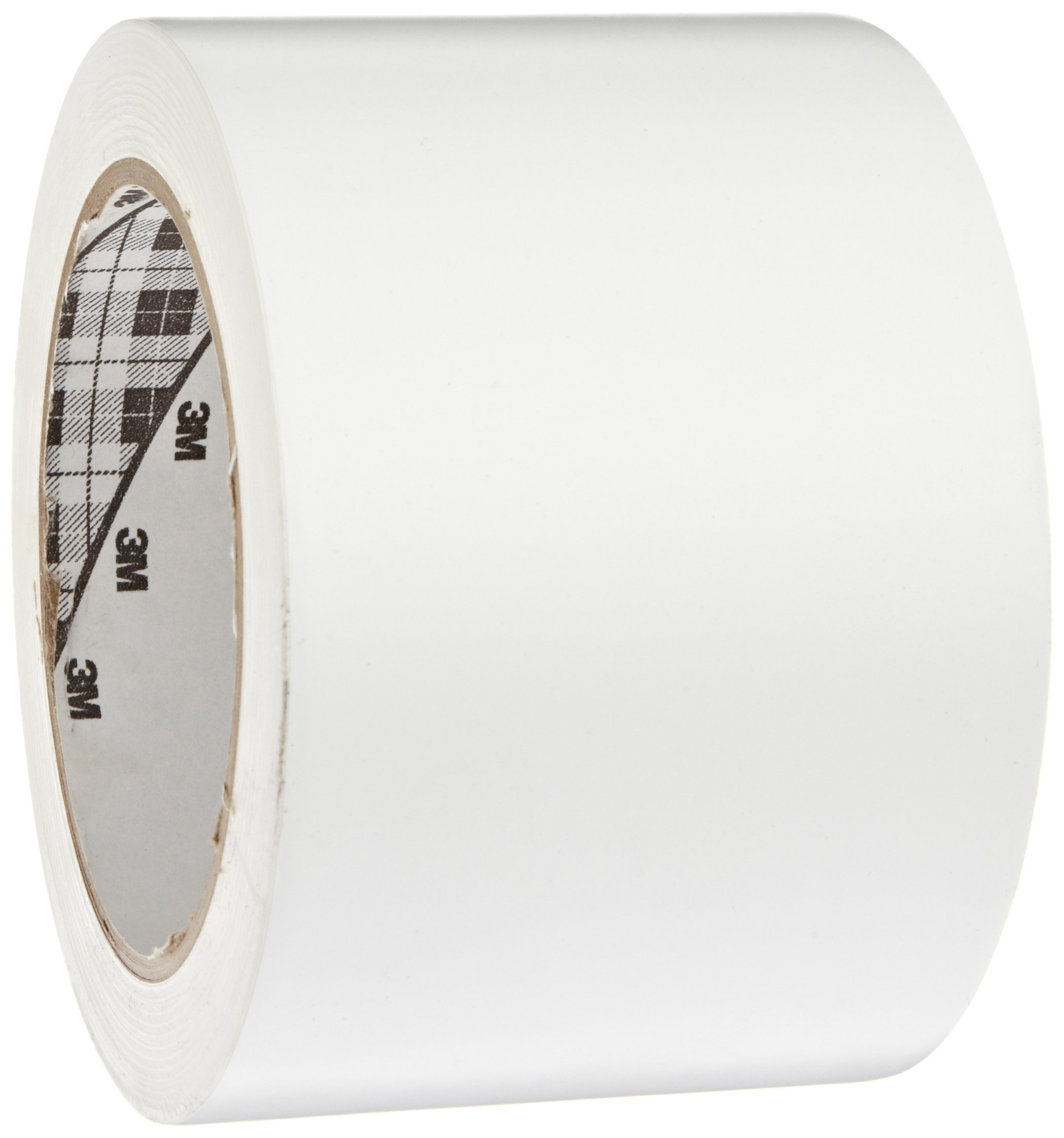 3M General Purpose Vinyl Tape 764 White, 3 in x 36 yd 5.0 mil (Pack of 1)