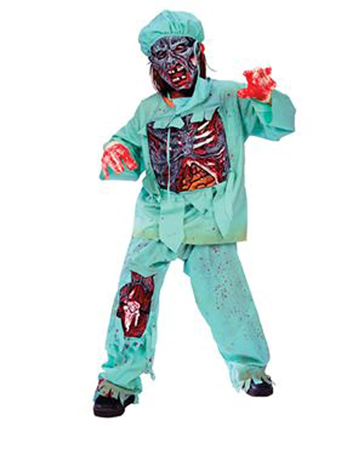 amazoncom zombie doctor child halloween costume size 4 6 toys games - Scary Halloween Costumes For Children