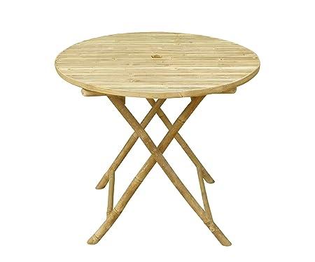 Zero Emission World Ta-143 Bamboo Round Folding Bistro Table