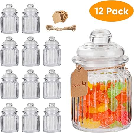 1pc Wide Round Clear Food Storage Container Sealed Jar Box with Lid Kitchen Tool