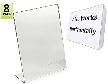 amazon com 8 5 x 11 inches slant back acrylic sign holder ad frame
