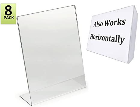 Amazoncom 85 X 11 Inches Slant Back Acrylic Sign Holder Ad Frame