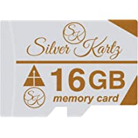 Silver Kartz 16GB SK A_Plus Memory Card for Mobiles; Tablets; Digital CCTV Drone Cameras and Other Micro Slots (skmc16gb)