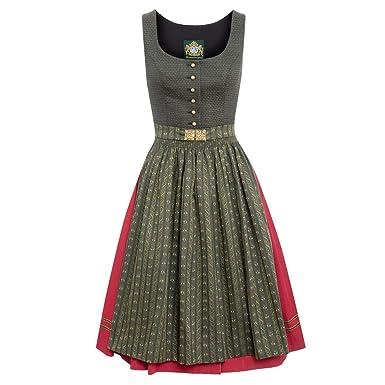 148424bd4809d0 Hammerschmid Damen Trachten-Mode Midi Dirndl Fuschelsee in Oliv traditionell,  Größe:42,