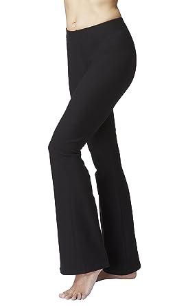 a99a56768a4b4 TLC Sport Womens Quality High Stretch Bootcut Flare Bootleg Leggings Yoga  Pants-Reg-XS