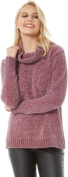 REVIEW Pullover aus flauschigem Material Damen Strick Pulli Herbst