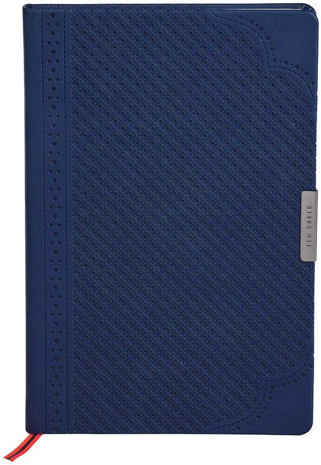 Ted Baker A5 Notebook - Navy Geo Design