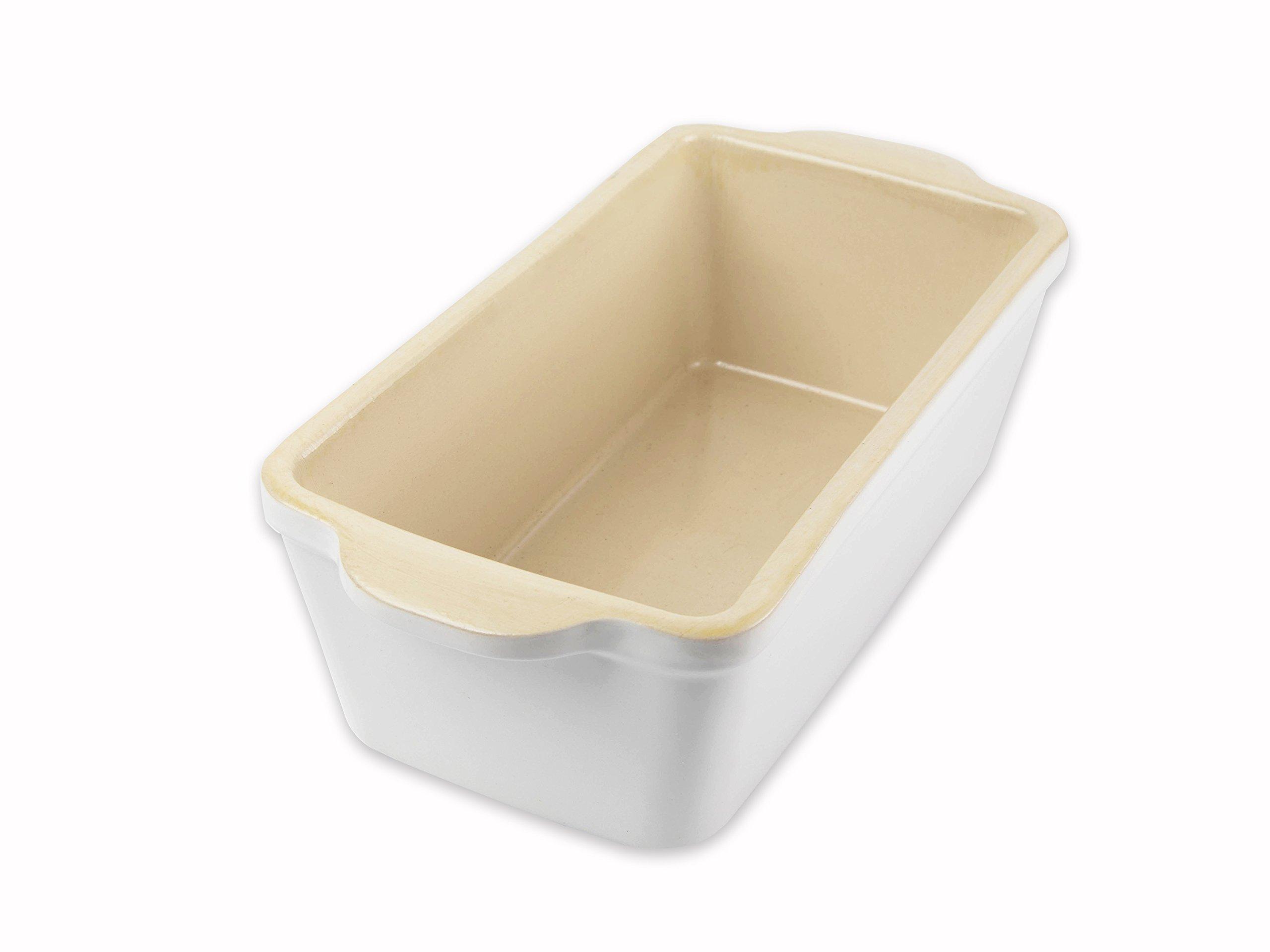 USA Pan 1140LF-SW-W Stoneware Loaf Baking Dish, Pan