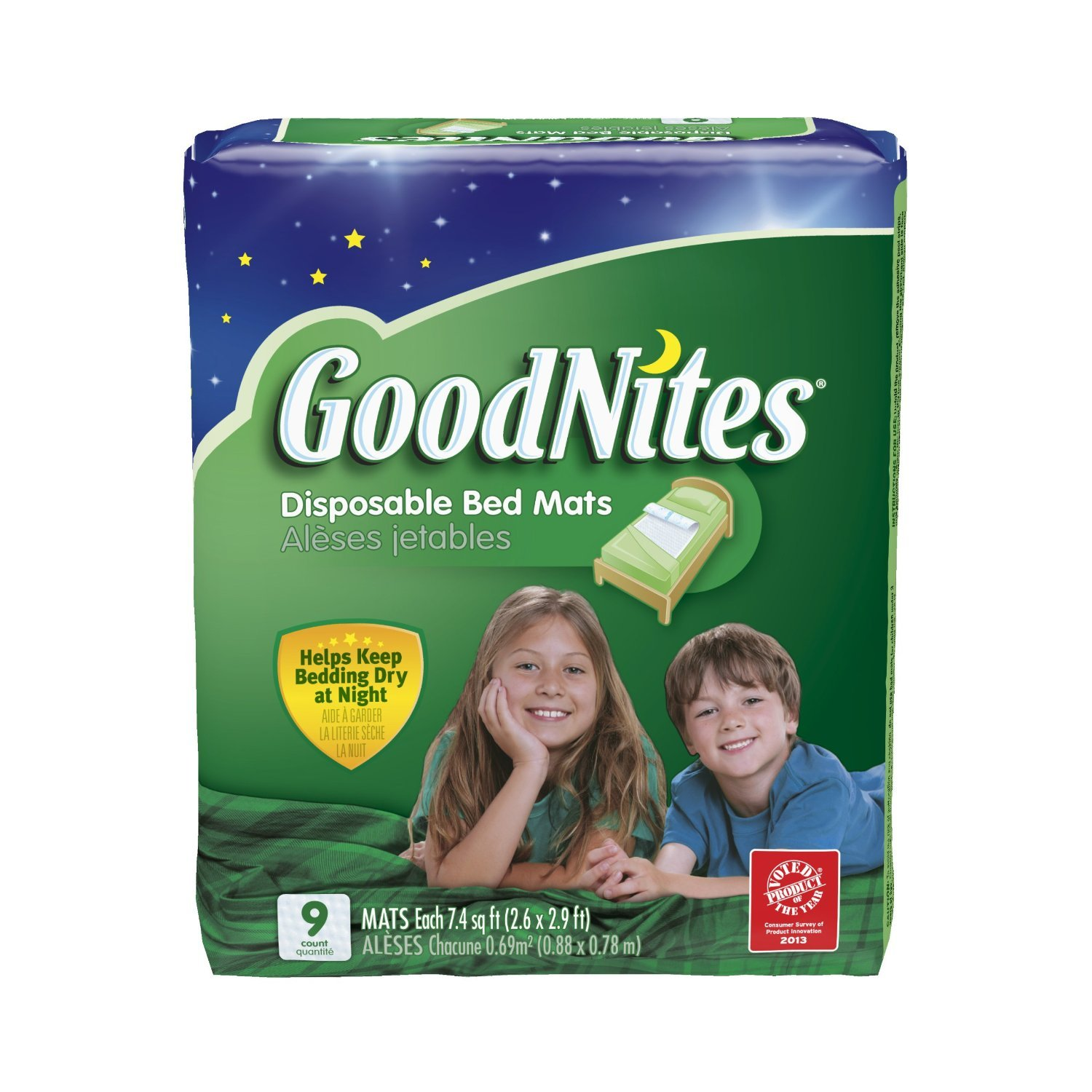 Goodnites Disposable Bed Mats (72 Matts)