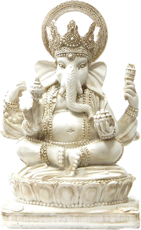 Bellaa 22227 Ganesh Statues Hindu Elephant God of Success 6 inch