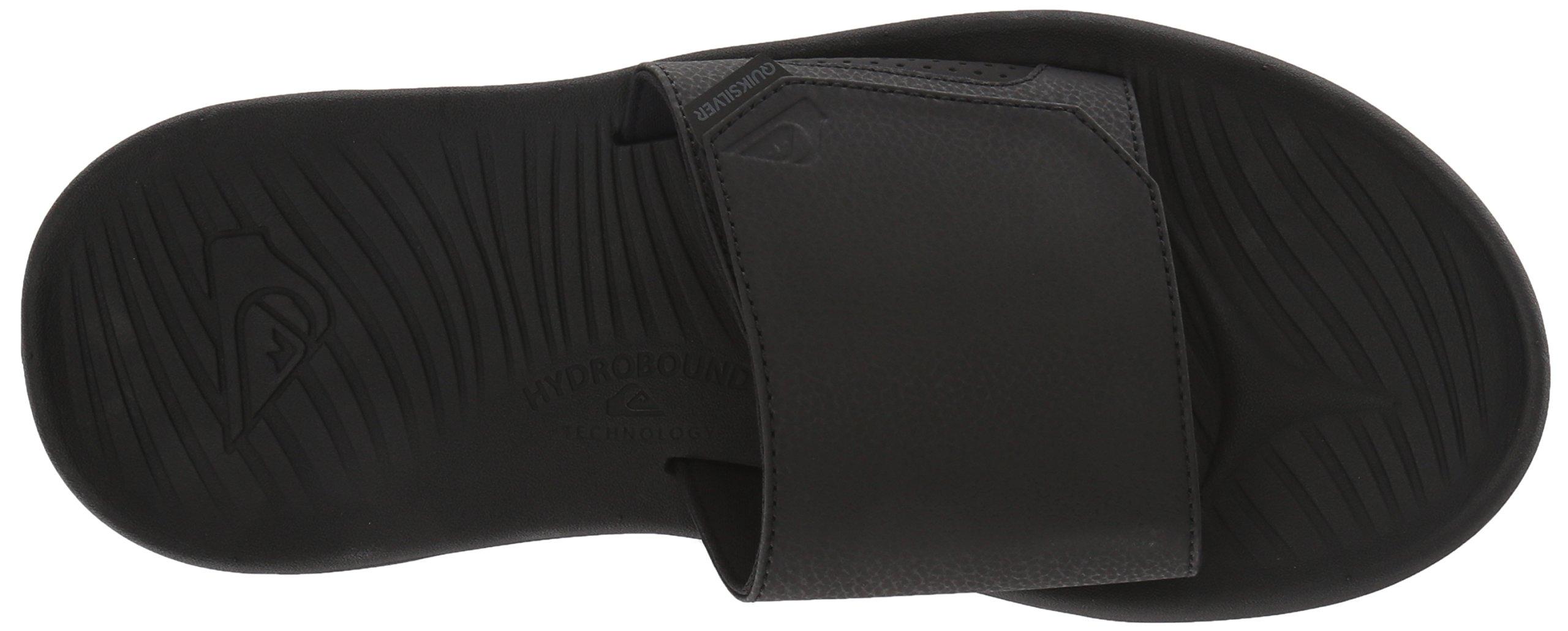 Quiksilver Men's Travel Oasis Slide Sandal, Black/Black/Brown, 8(41) M US by Quiksilver (Image #7)