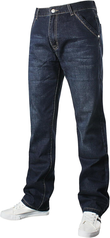 Demon&Hunter Vaqueros Relaxed Loose Jeans para Hombre 809