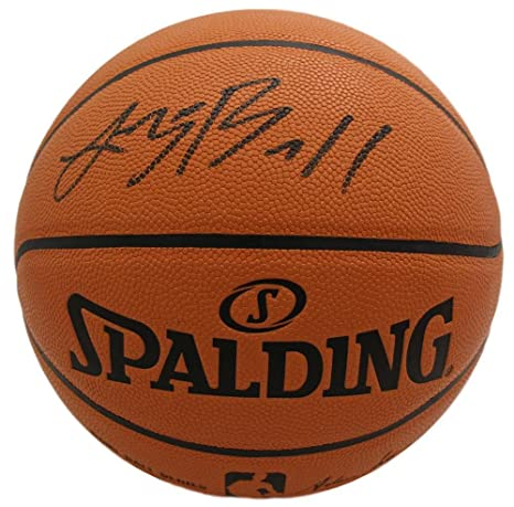 65c6621ed Image Unavailable. Image not available for. Color  Lonzo Ball Autographed  Los Angeles Lakers Spalding Basketball Black BAS