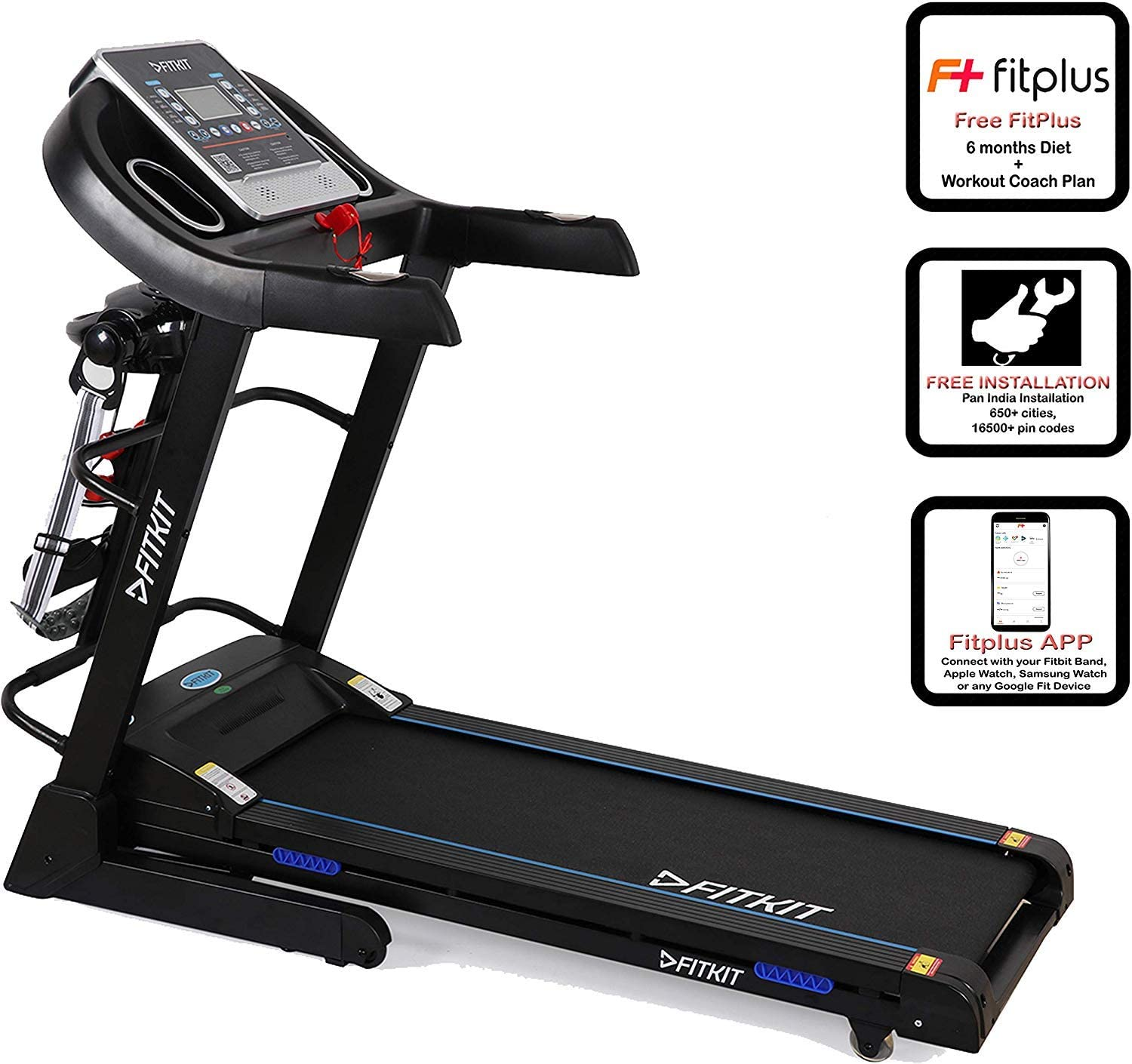 Fitkit FT063 7 in 1 Auto Incline Motorized Multi Functional Treadmill