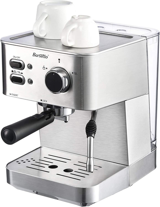 Barsetto - Cafetera espresso (15 bares, con función de espumador de leche para capuchino): Amazon.es: Hogar