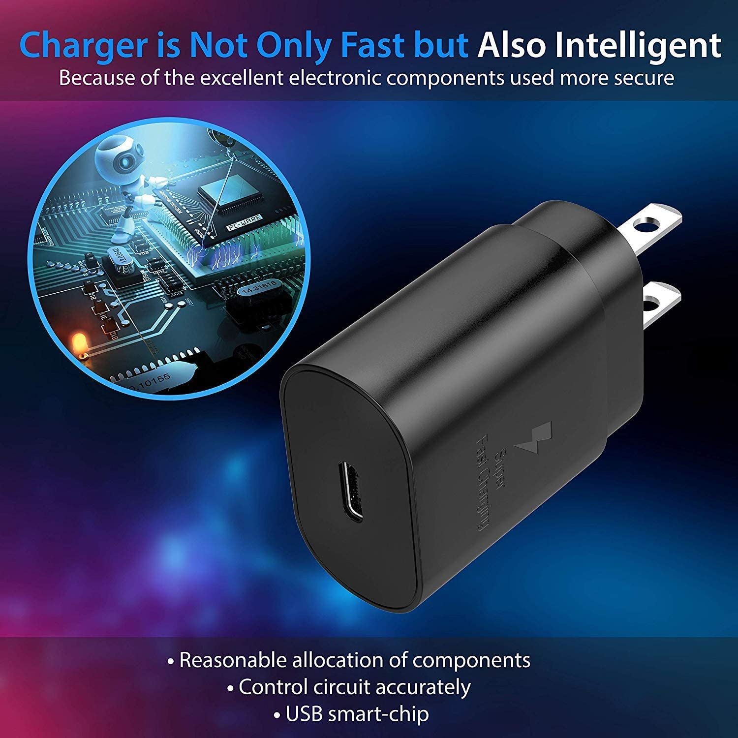 S9 Note 9 Note 10 Plus Compatible for S8 TT/&C 25 Watt PD 3.0 USB C Wall Charger Fast Charging for Samsung Galaxy Note 10 iPad Pro 11//12.9 Galaxy S10 5G Note 8 S10