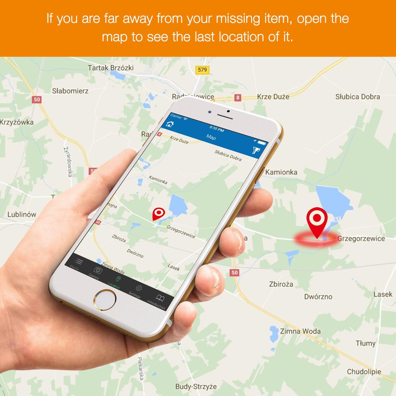 for iPhone 7//8/and More Dispositivos iOS bizoerade Bluetooth Key Finder Anti de p/érdida de GPS Tracker para Llave//tel/éfono//Wallet//Mascotas 2/PCS Llave Finder con c/ámara Mando a Distancia