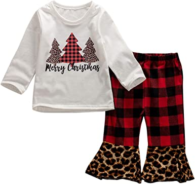 Toddler Kids Baby Girl Christmas Outfit Long Sleeve Snowman T-Shirt Dress Snowflakes Pants Scarf Fall Winter Clothes Set