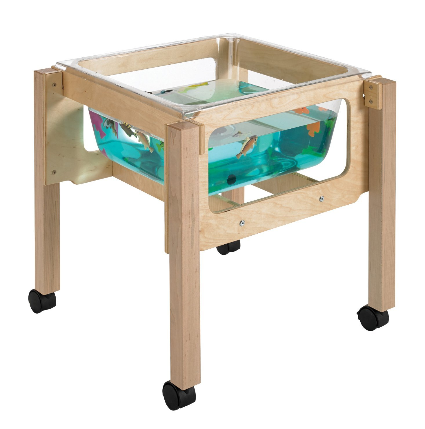 Childcraft 1491069 Sand and Water Table, 24'' Height, 23.25'' Width, 23.25'' Length, Natural Wood by Childcraft