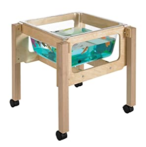 "Childcraft 1491069 Sand and Water Table, 24"" Height, 23.25"" Width, 23.25"" Length, Natural Wood"