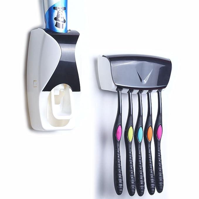 Gearmax® De alta calidad de pasta de dientes automático dispensador Exprimidor Con cepillo de dientes titular: Amazon.es: Electrónica