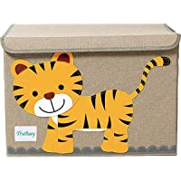 TruReey Large Storage Chest for Kids, with Lid, Foldable Storage Container, Collapsible Sturdy Toy Storage Bins (Tiger)