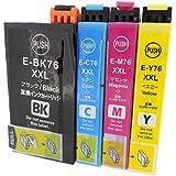EPSON(エプソン)インクカートリッジ IC4CL76(BK/C/M/Y)【全色XXL大容量】4色セット 残量表示機能付 最優良純正互換インクカートリッジ Green shower製商品 【安心一年保障付き76】