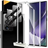 [2+2 Pack] EGV Compatible with Samsung Galaxy Note 20 Ultra 6.9-inch, Soft TPU Film Screen Protector & Camera Lens Protector,