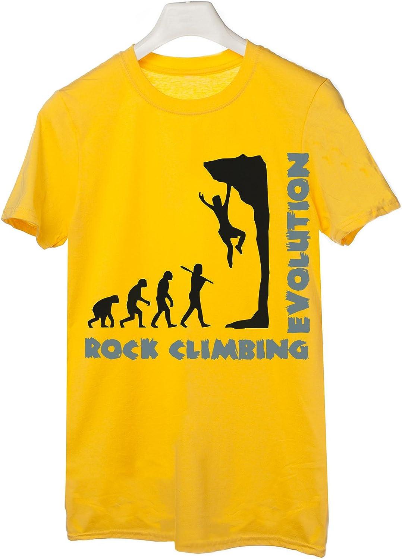Tshirt Rock Climbing Evolution – Love Sport – Todas Las Tallas by tshirteria