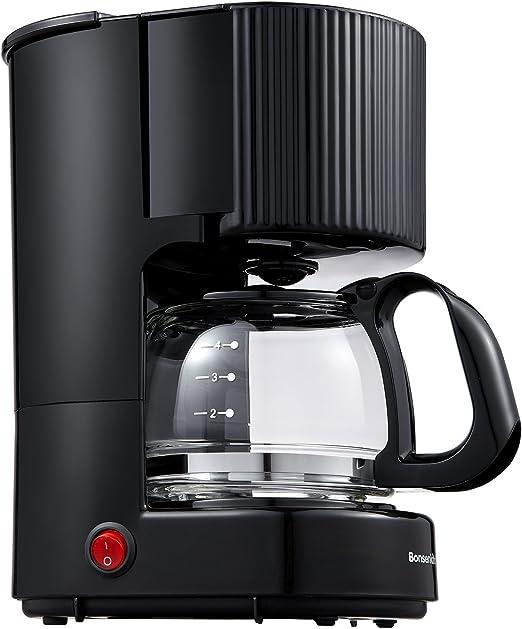 Bonsenkitchen Cafetera de goteo de 4 tazas, máquina de café básica ...