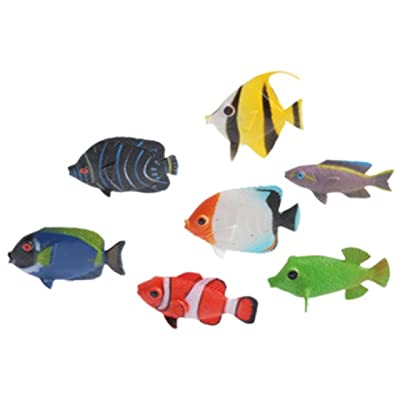 US Toy Assorted Color and Design Tropical Fish Figure Play Set (Lot of 12): Home & Kitchen