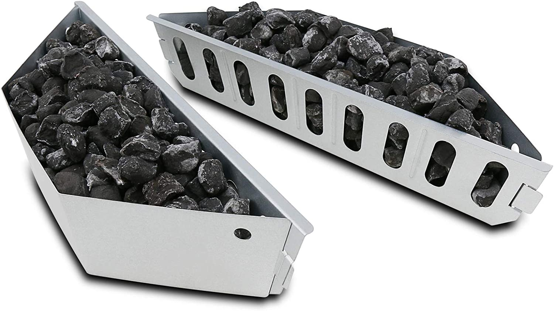 GFTIME 7403 Briquette Brasket Reemplazo para Weber 57CM Charcoal Kettle Grill, 36CM brasket con soporte de carbón repuestos para parrillas de carbón Weber paquete de 2