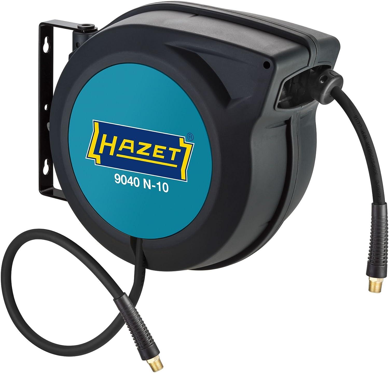 HAZET Schlauchaufroller (15 m Schlauchlä nge, 10 mm Schlauch-Innendurchmesser, maximaler Druck: 20 bar, fü r Druckluft oder Wasser) 9040N-10