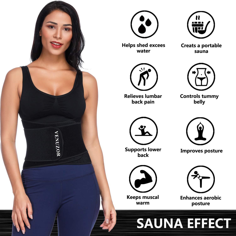 428e54f006 Amazon.com  VENUZOR Waist Trainer Belt for Women - Waist Trimmer Slimming  Belt - Sport Girdle Weight Loss  Sports   Outdoors