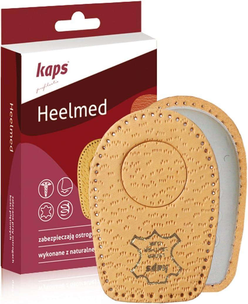 Almohadillas para Espolón Calcáneo - Plantillas para Zapatos Ortopédicos - Almohadillas de Cuero para el Talón de Heelmed - Alivio del Dolor en el Talón (41-43 EUR)