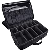 """Goldwheat Beauty Cosmetic Multifunctional Makeup Case with Adjustable Space Shoulder Strap Black 13.6""""X9.5""""X4.3"""""""