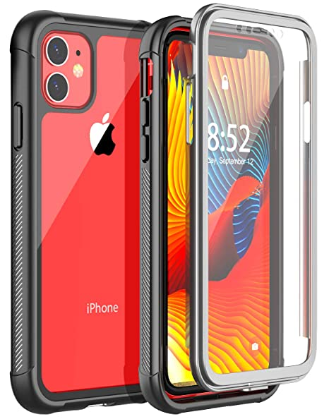iPhone 11 Case, POTALUX iPhone 11R Case/XIR Case【2019 NEW】360° Full Body  Case with Built,in Anti,Scratch Screen Portector Shockproof Wireless  Charing