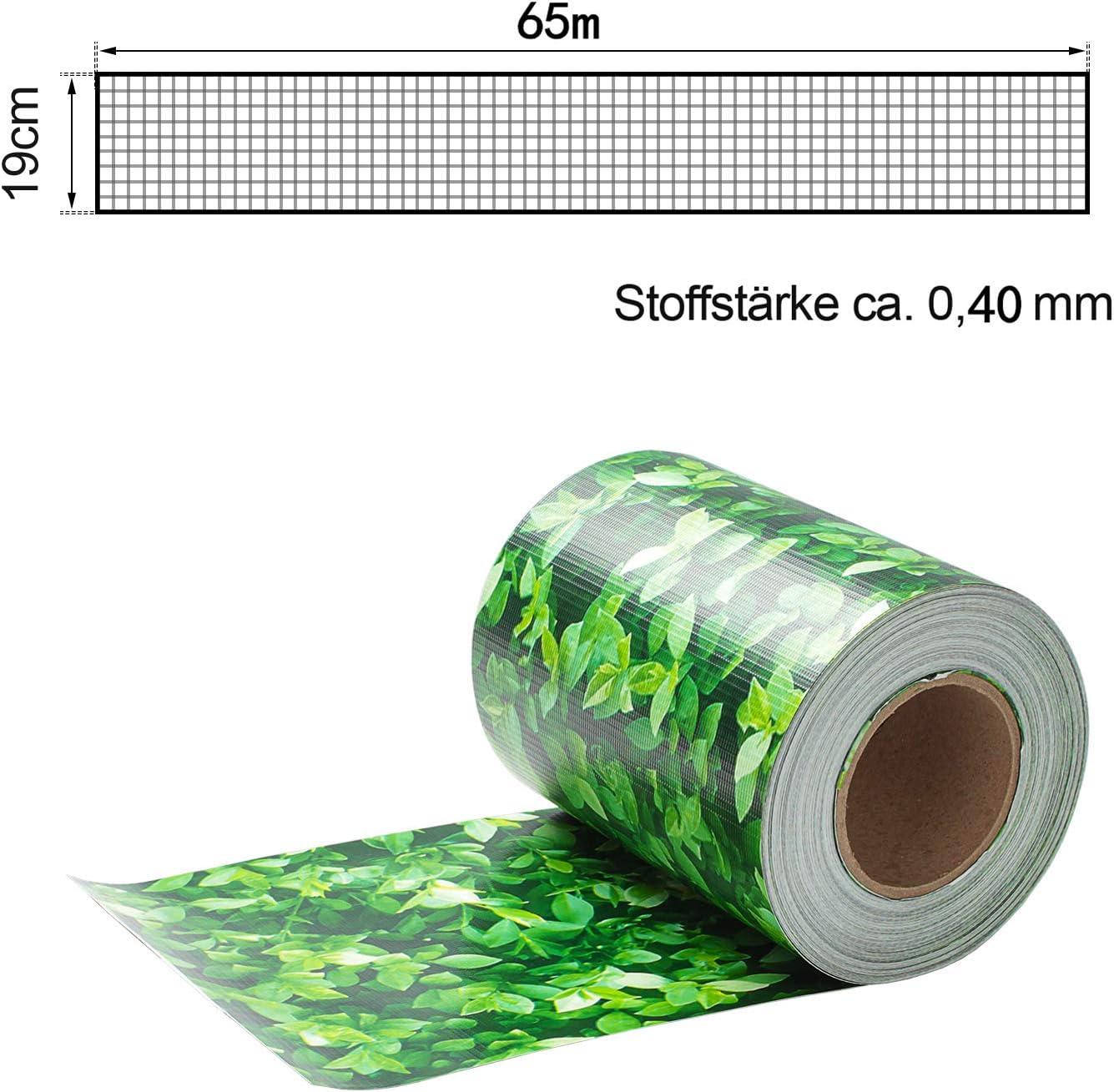 VINGO Strisce di Privacy Balcone 35m x 19cm visibilit/à PVC Paravista Strisce Rotolo Frangivista in PVC per Recinzione da Giardino a Doppia Barra